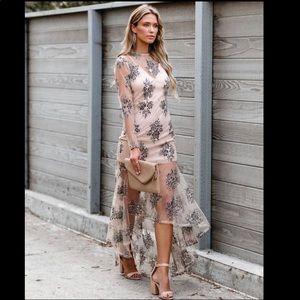 Vici Dolls Lace High Low Maxi Dress